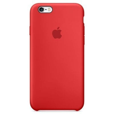 Apple Red Silicone Case iPhone 6/6S