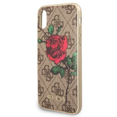 Guess Flower Desire Brown Case iPhone X/XS