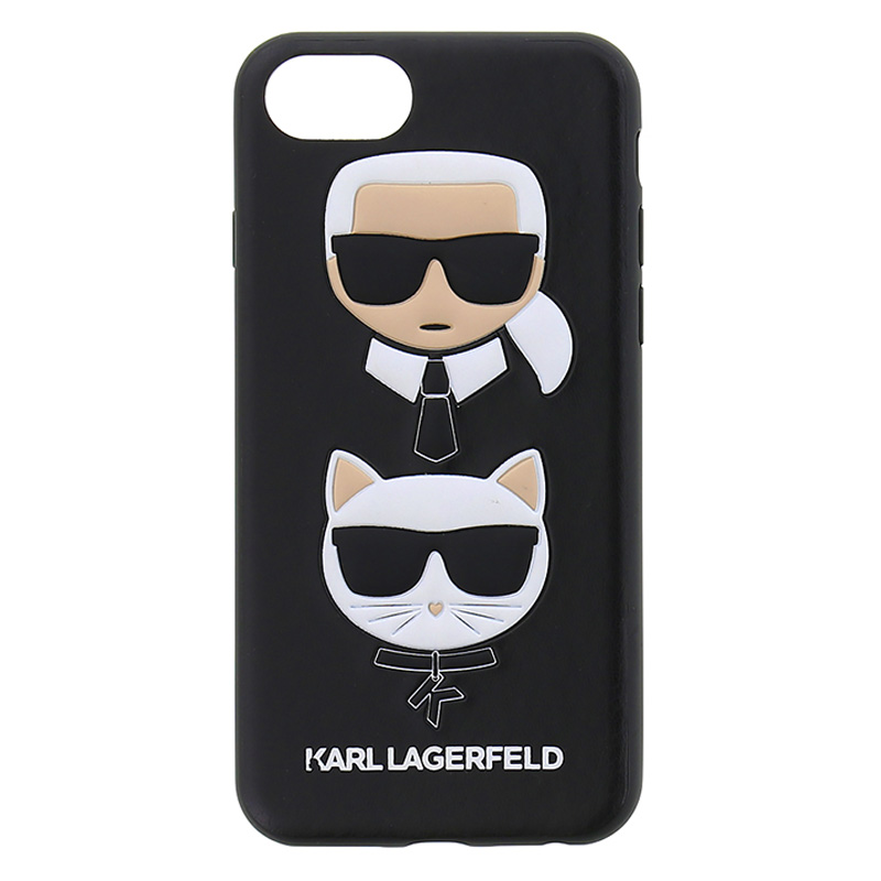 Karl Lagerfeld Karl and Choupette Black Case iPhone 6/6S/7/8
