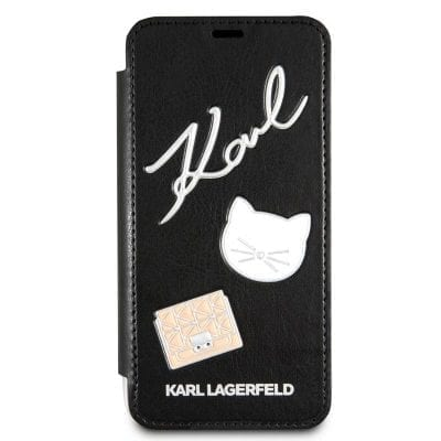 Karl Lagerfeld Pins Black Book Case iPhone 7/8