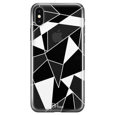 Black White Geometric Case iPhone X/XS
