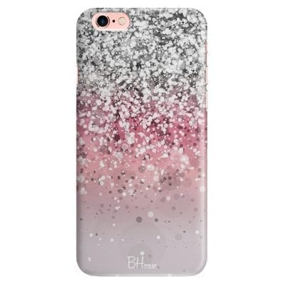 Glitter Pink Silver Case iPhone 6/6S