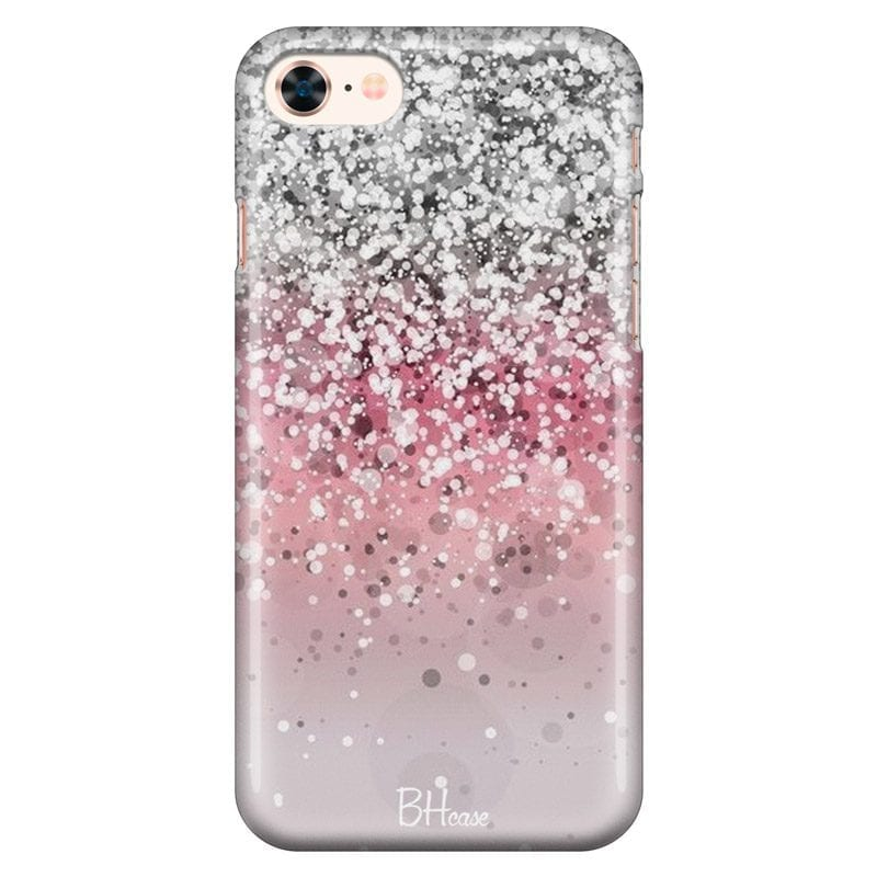 Glitter Pink Silver Case iPhone 7/8