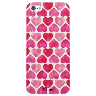 Hearts Pink Case iPhone SE/5S