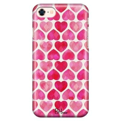 Hearts Pink Case iPhone 7/8