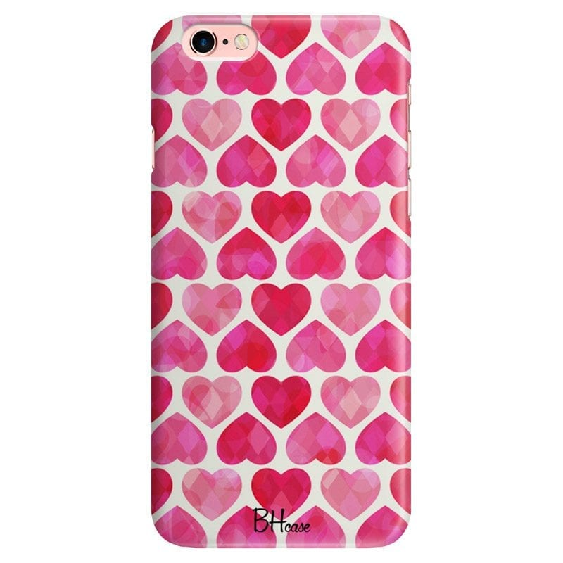 Hearts Pink Case iPhone 6 Plus/6S Plus