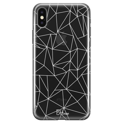 Lines White Net Case iPhone XS Max