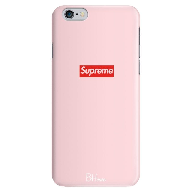 Supreme Pink Logo Case iPhone 6/6S