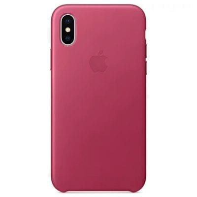 Apple Pink Fuchsia Leather Case iPhone X/XS