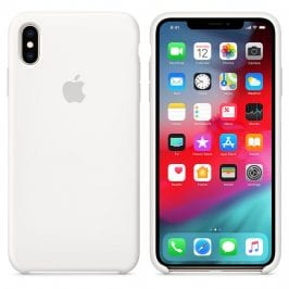 Apple White Silicone Case iPhone XS Max