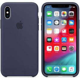 Apple Midnight Blue Silicone Case iPhone XS