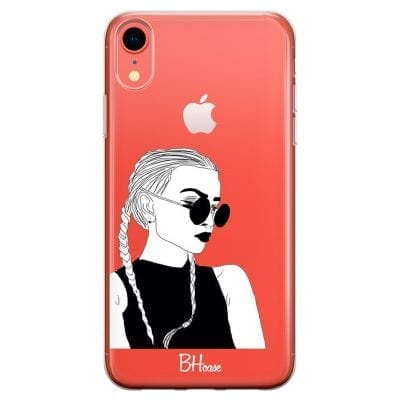 Black And White Girl Case iPhone XR