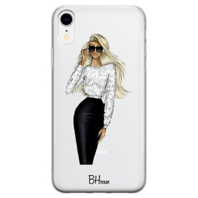 Blonde High Fashion Girl Case iPhone XR