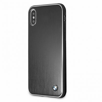 BMW Brushed Aluminium Black Case iPhone X/XS