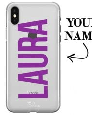 Case with big name for iPhone XS Max