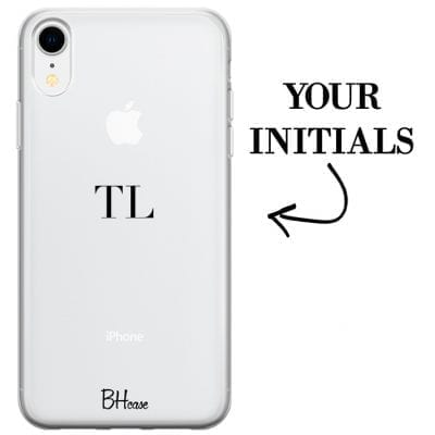 Case with initials for iPhone XR