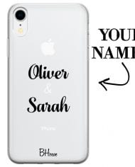 Case with double name for iPhone XR