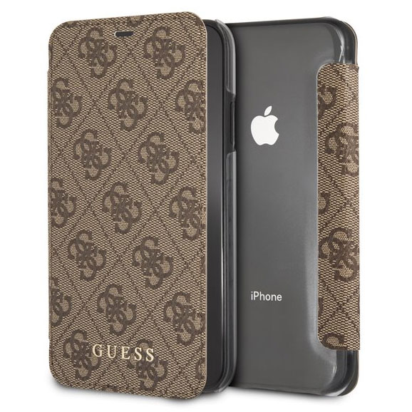 Guess Charms 4G Brown Book Case iPhone XS Max