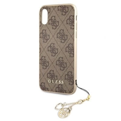 Guess Charms 4G Brown Case iPhone XR