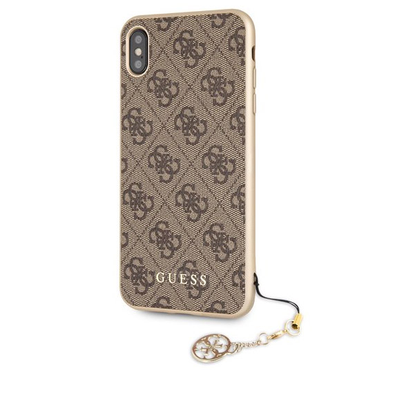 Guess Charms 4G Brown Case iPhone XS Max