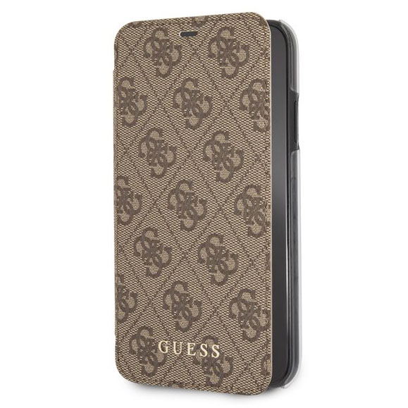 Guess Charms 4G Brown Book Case iPhone XR