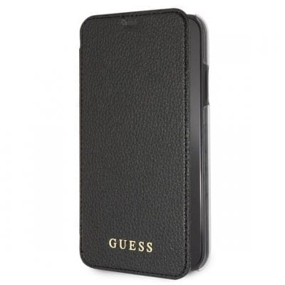 Guess Iridescent Black Book Case iPhone XR