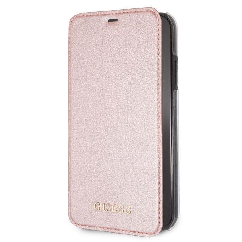 Guess Iridescent Rose Gold Book Case iPhone XR