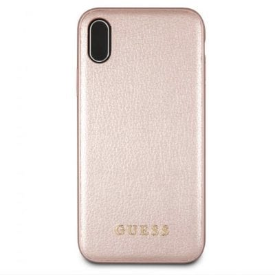 Guess Iridescent Rose Gold Case iPhone XR