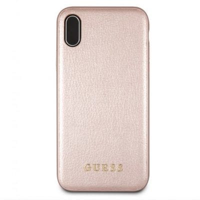 Guess Iridescent Rose Gold Case iPhone XS Max