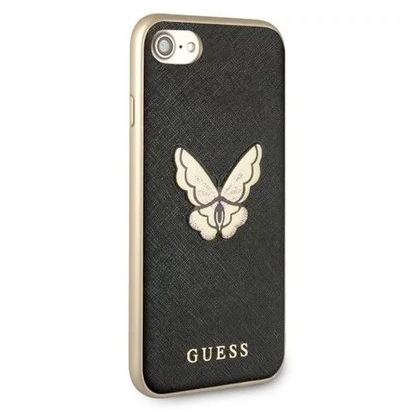 Guess Saffiano Butterfly Black Case iPhone 6/6S/7/8