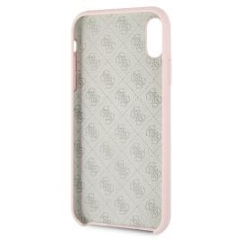 Guess Silicone Gold Logo Light Pink Case iPhone XR