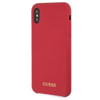 Guess Silicone Gold Logo Red Case iPhone X/XS