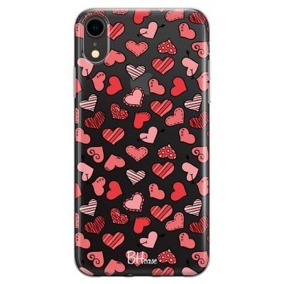 Hearts Pink Case iPhone XR