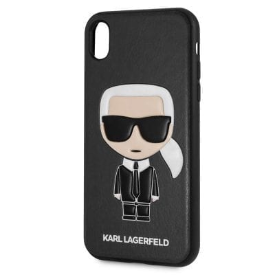 Karl Lagerfeld Ikonic TPU Black Case iPhone XR