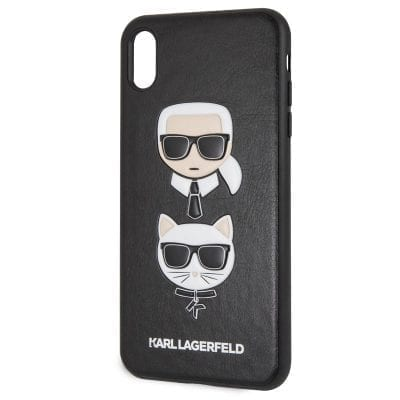 Karl Lagerfeld Karl and Choupette Black Case iPhone XS Max