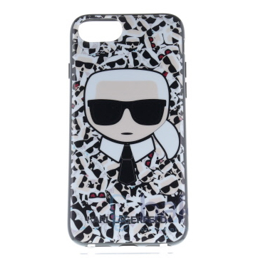 Karl Lagerfeld Karl Choupette Canvas White Case iPhone 6/6S/7/8