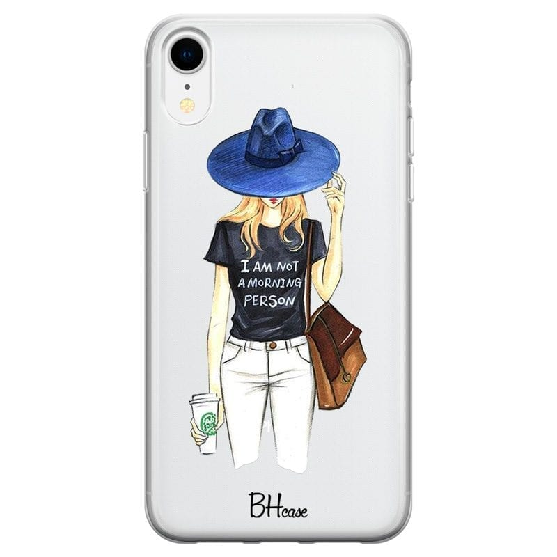 Morning Person Girl Case iPhone XR
