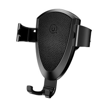Usams Gravity Car Mount and Wireless Charger Black