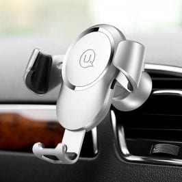 Usams Gravity Car Mount and Wireless Charger Silver
