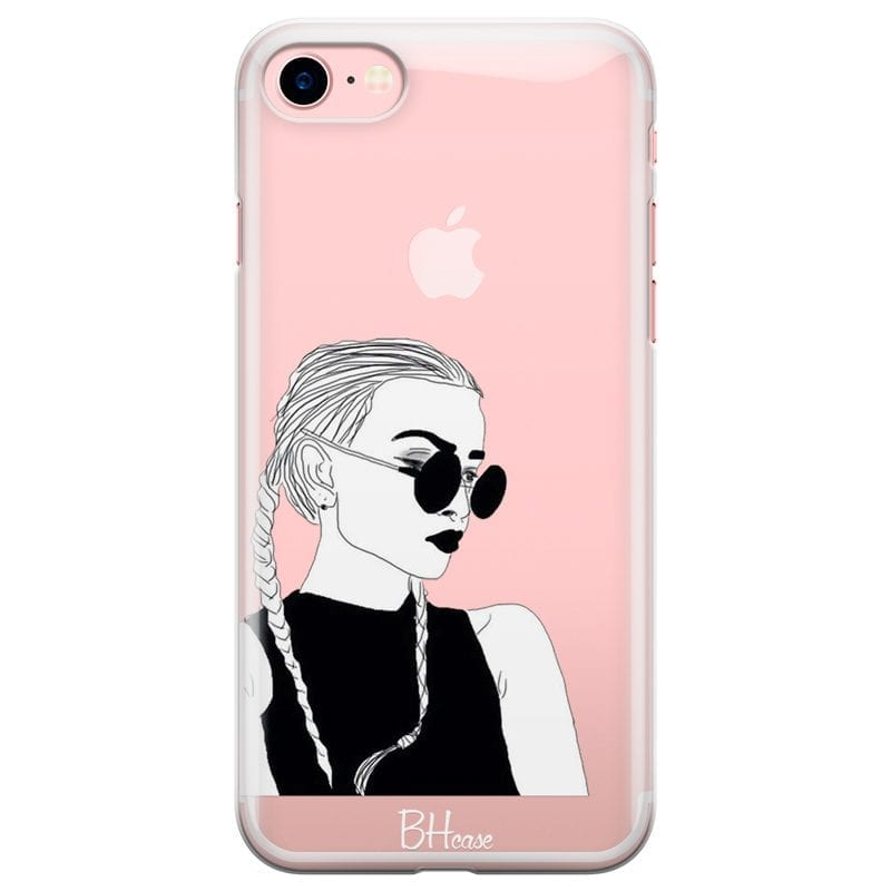 Black And White Girl Case iPhone 7/8