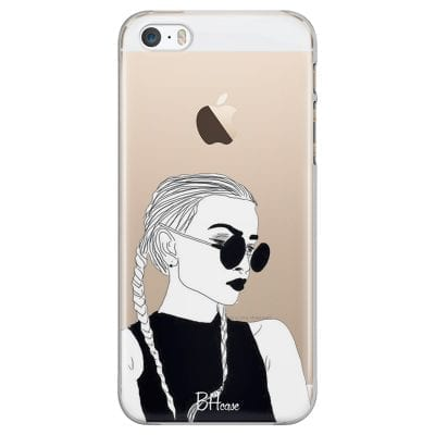 Black And White Girl Case iPhone SE/5S