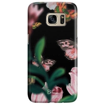 Black Butterflies Case Samsung S7