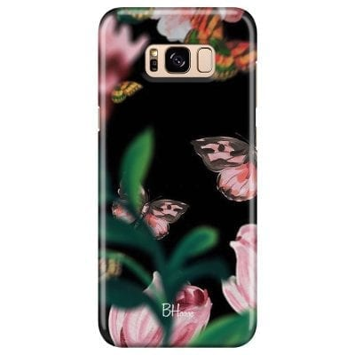 Black Butterflies Case Samsung S8 Plus
