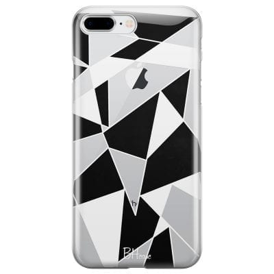 Black White Geometric Case iPhone 7 Plus/8 Plus