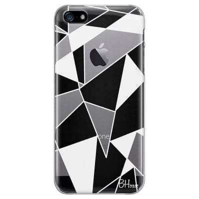 Black White Geometric Case iPhone SE/5S