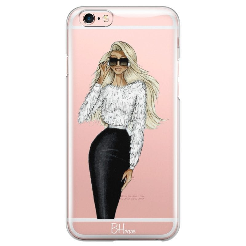 Blonde High Fashion Girl Case iPhone 6 Plus/6S Plus