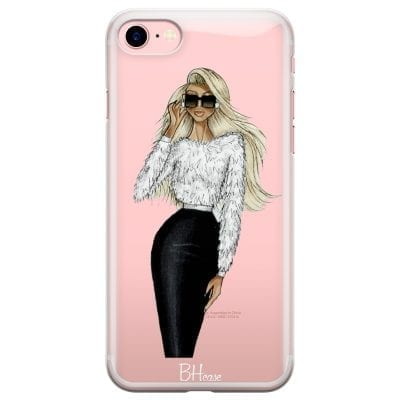 Blonde High Fashion Girl Case iPhone 7/8