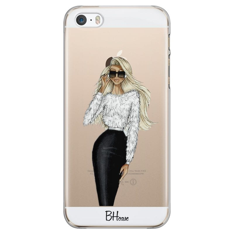 Blonde High Fashion Girl Case iPhone SE/5S