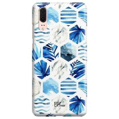 Blue Design Case Huawei P20