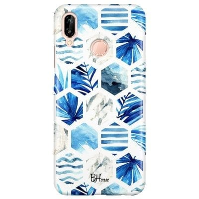 Blue Design Case Huawei P20 Lite